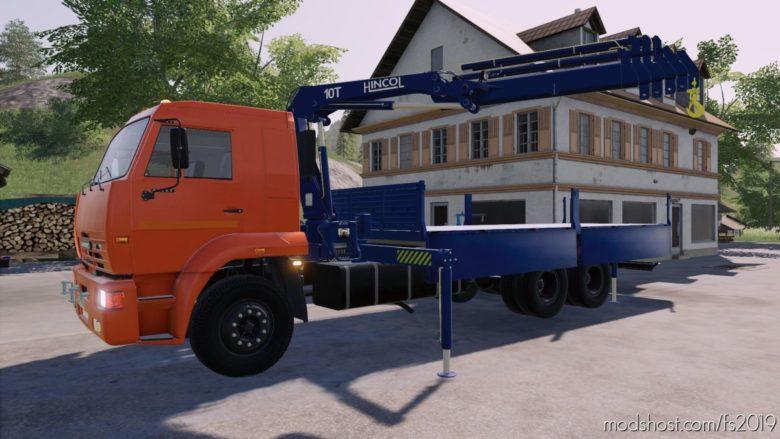 Kamaz 65117 Picker Crane V1.0.1 for Farming Simulator 19