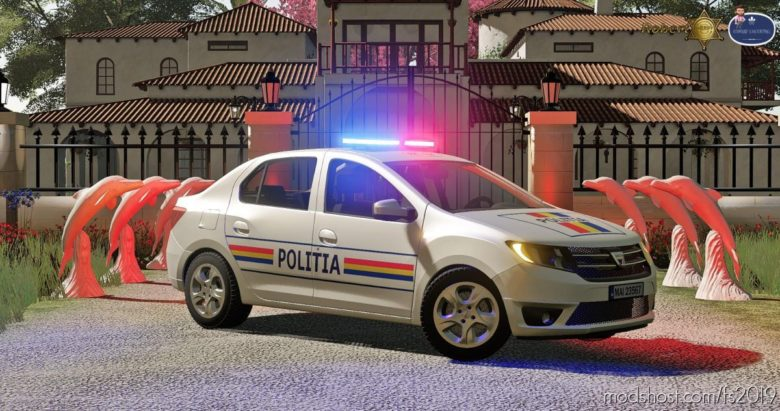 Dacia Logan Politia 2019 for Farming Simulator 19