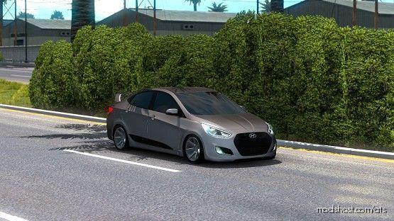 Hyundai Accent Blue 2010 V5 [1.38] for American Truck Simulator