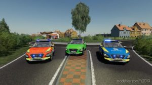 Hyundai Kona Police And Ambulance for Farming Simulator 19