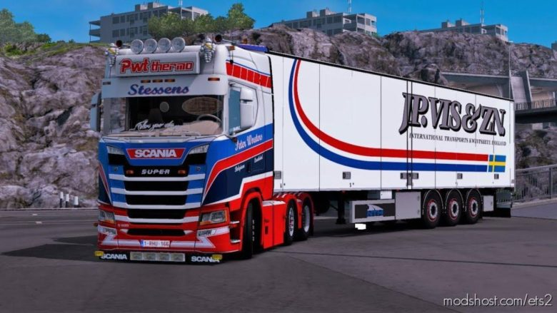 Scania S500 PWT Stessens + Trailer [1.38] for Euro Truck Simulator 2