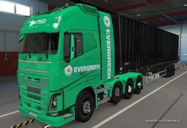 Skin Volvo FH16 2012 8X4 Evergreen Green [1.39] for Euro Truck Simulator 2