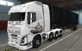 Skin Volvo FH16 2012 8X4 Tank M1 Abrams V2.0 [1.39] for Euro Truck Simulator 2