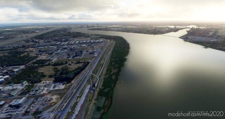 Port Of Antwerp for Microsoft Flight Simulator 2020