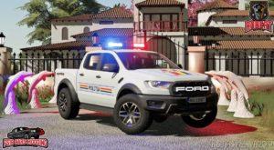Ford Ranger Politia for Farming Simulator 19