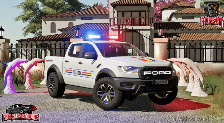 Ford Ranger Politia for Farming Simulator 19