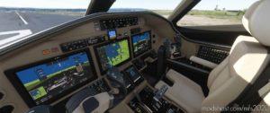 Cessna Citation Longitude Cockpit Livery – Black Beige for Microsoft Flight Simulator 2020