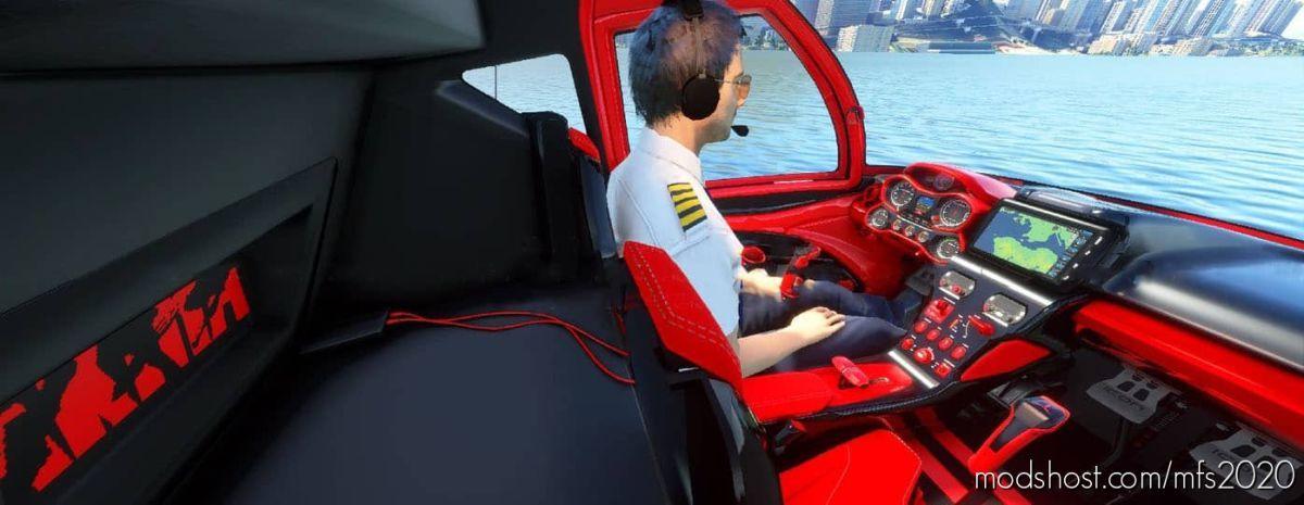 Akira Icon A5 + Cockpit RED And Black for Microsoft Flight Simulator 2020