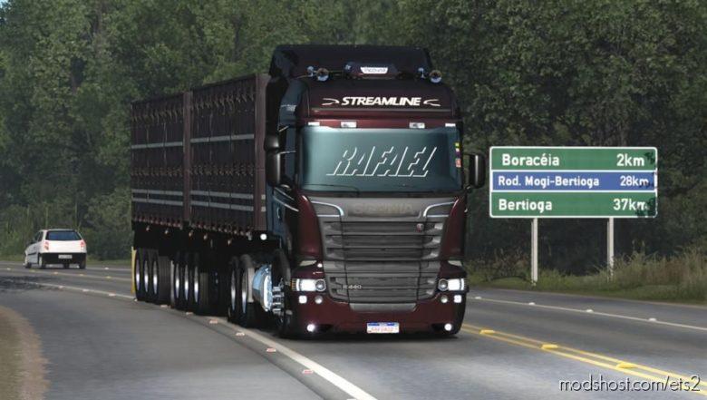 Scania R&S And 124G Brazilian Edit Update [1.38] for Euro Truck Simulator 2