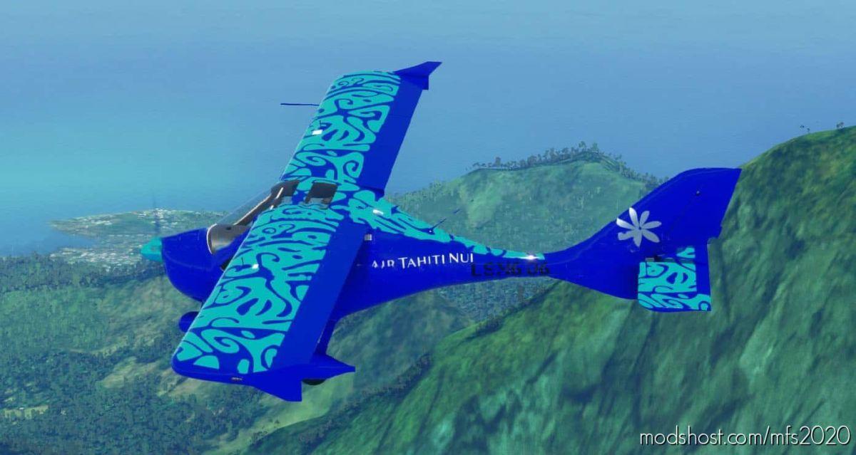 AIR Tahiti NUI Flight Design CT + Cockpit Beach for Microsoft Flight Simulator 2020