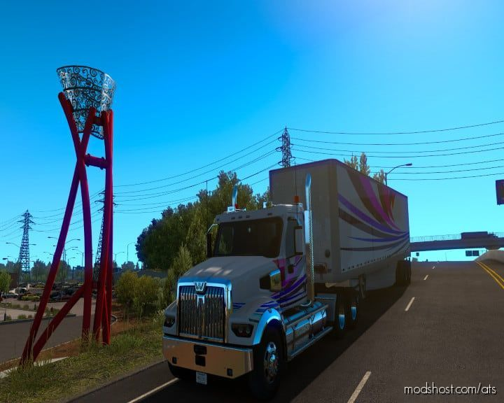 Stripes Coloro WS49X And Trailer Ownable BOX Beta for American Truck Simulator