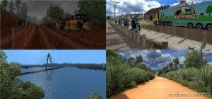 Mapa Norte Brasil V5.0 for Euro Truck Simulator 2
