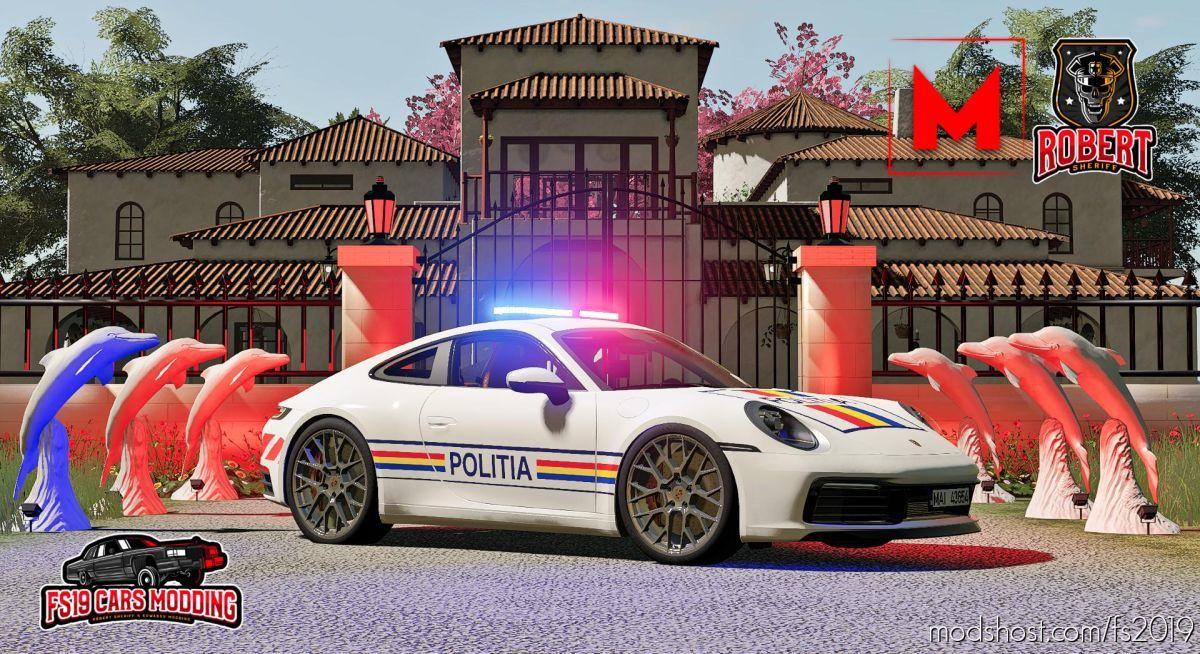 Porsche Carrera 4S Politia for Farming Simulator 19