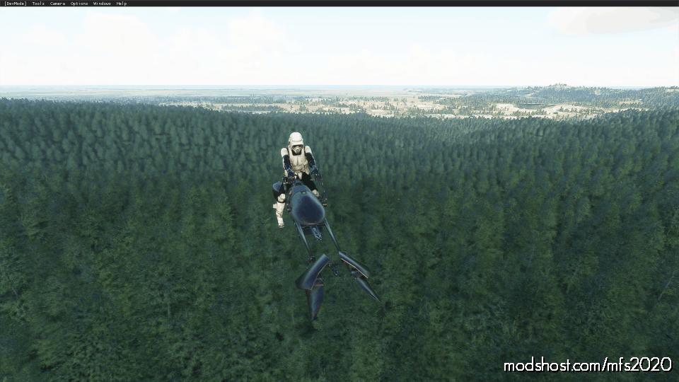 Speeder Bike Aircraft for Microsoft Flight Simulator 2020