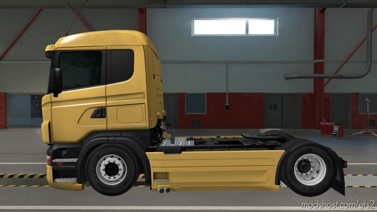 Lower LOW Deck 4XX Chassis For RJL Scania [1.38] for Euro Truck Simulator 2