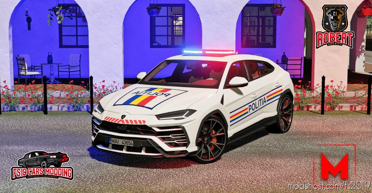 Lamborghini Urus Politia for Farming Simulator 19