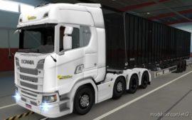 Skin Scania S 2016 8X4 Transportadora PRA Frente Brasil [1.38] for Euro Truck Simulator 2