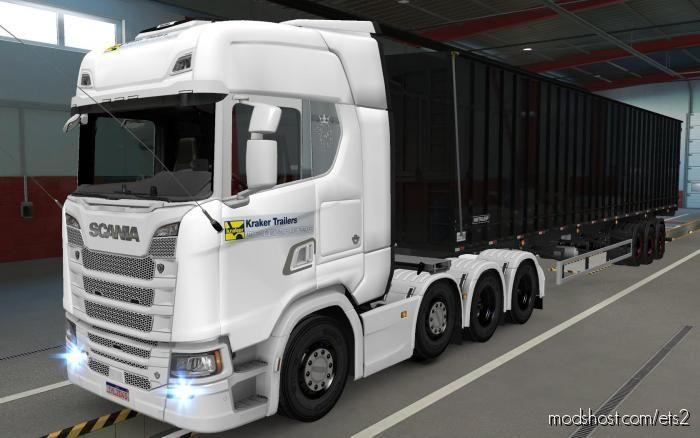 Skin Scania S 2016 8X4 Kraker Trailers [1.38] for Euro Truck Simulator 2