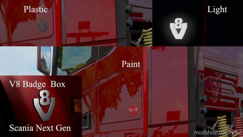 Scania Next Generation V8 Badges BOX V1.2 for Euro Truck Simulator 2