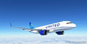 8K United Airlines Blue Livery A320Neo for Microsoft Flight Simulator 2020