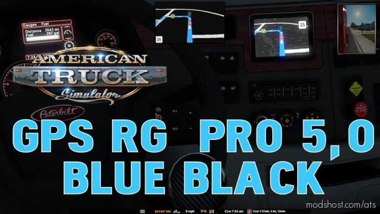 GPS RG PRO Blue Black V5.0 for American Truck Simulator