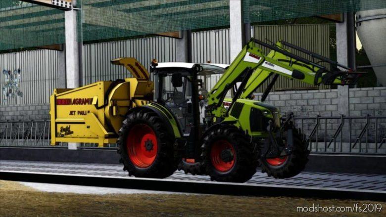 Pailleuse Agram JET Paille Yellow for Farming Simulator 19