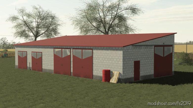 Concrete Block Garage for Farming Simulator 19