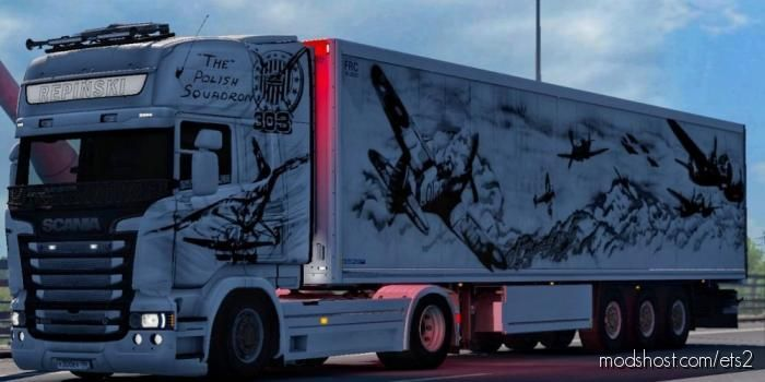 The Polish Squadron 303 Skin For Scania RJL V1.1 [1.39] for Euro Truck Simulator 2