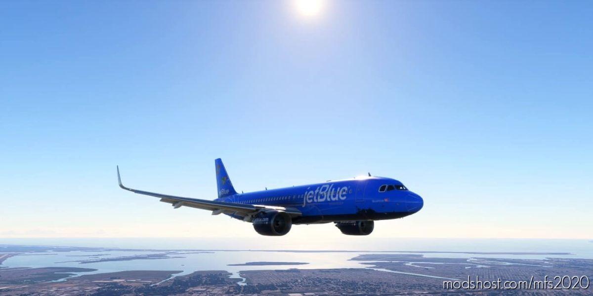 "8K Textures Jetblue ""Bluerica"" V2 for Microsoft Flight Simulator 2020"
