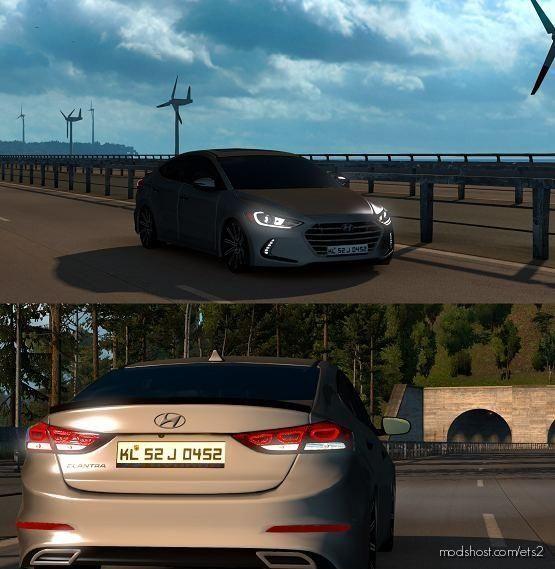 Hyundai Elantra 2017 V2 [1.38] for Euro Truck Simulator 2