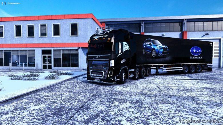 Mod Skin Subaru For Trailer Isothermal [1.39.X] for Euro Truck Simulator 2
