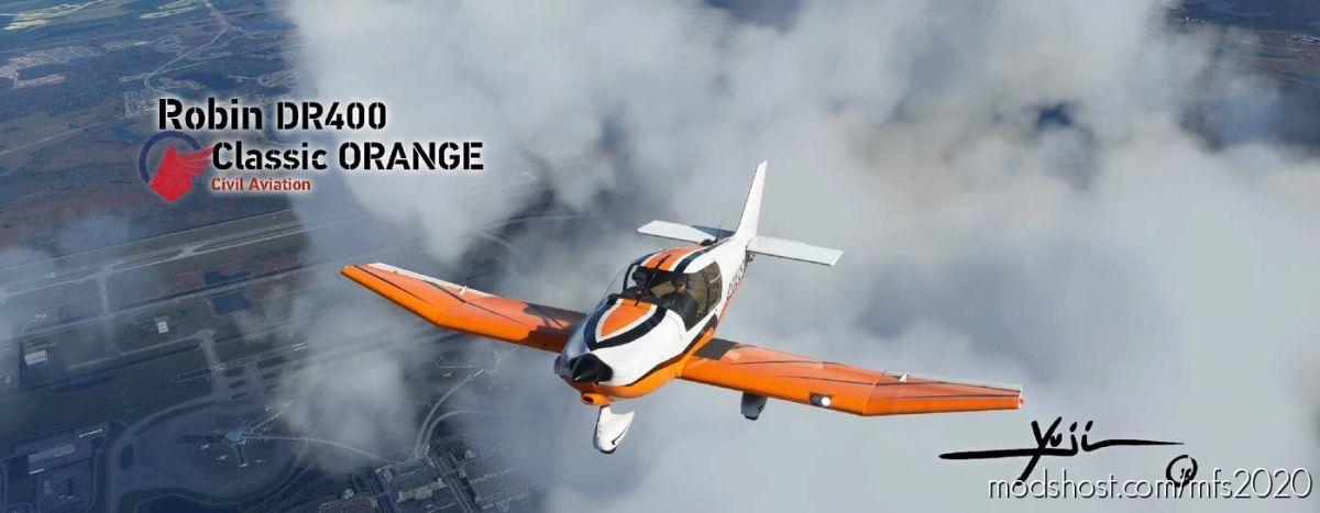 Robin DR400 Classic Orange for Microsoft Flight Simulator 2020