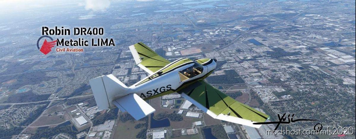 Robin DR400 Metalic Lima for Microsoft Flight Simulator 2020