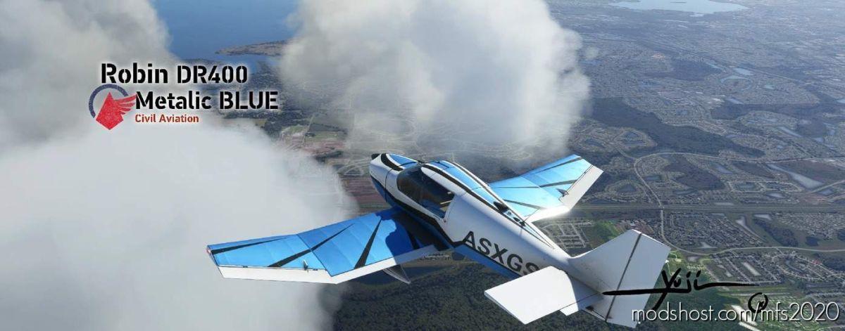 Robin DR400 Metalic Blue for Microsoft Flight Simulator 2020
