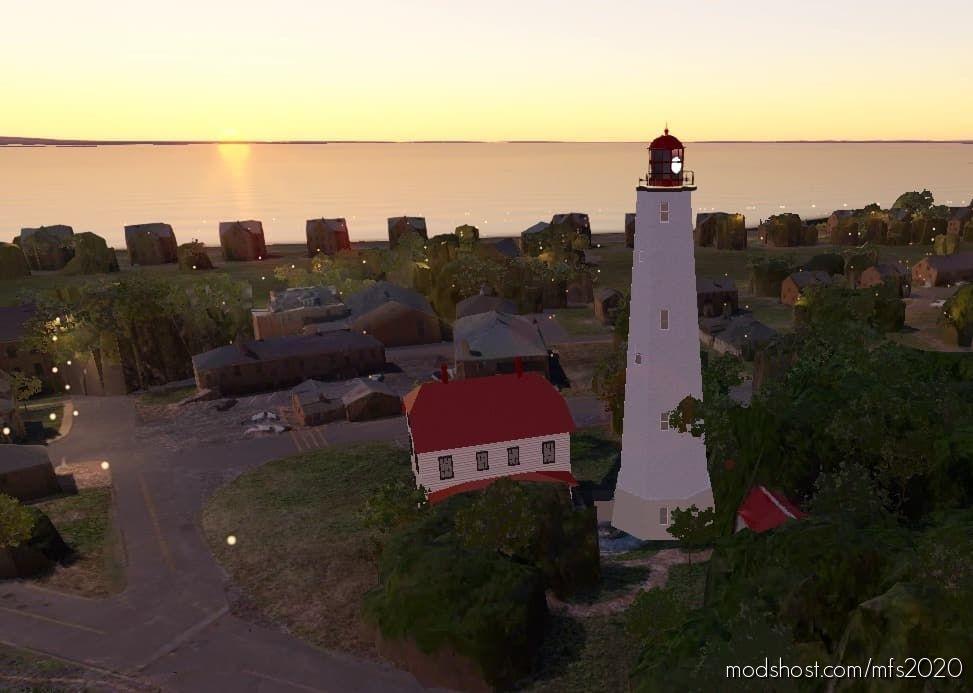 Sandy Hook Lighthouse, Sandy Hook, NJ for Microsoft Flight Simulator 2020