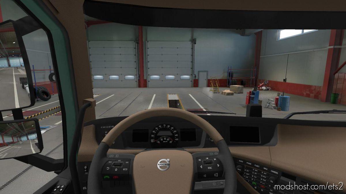 Brown Interior For Volvo FH16 2012 for Euro Truck Simulator 2