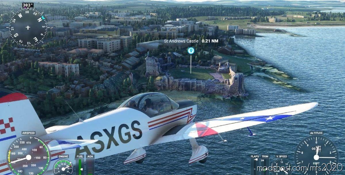 Some United Kingdom And Irland Castles + POI for Microsoft Flight Simulator 2020