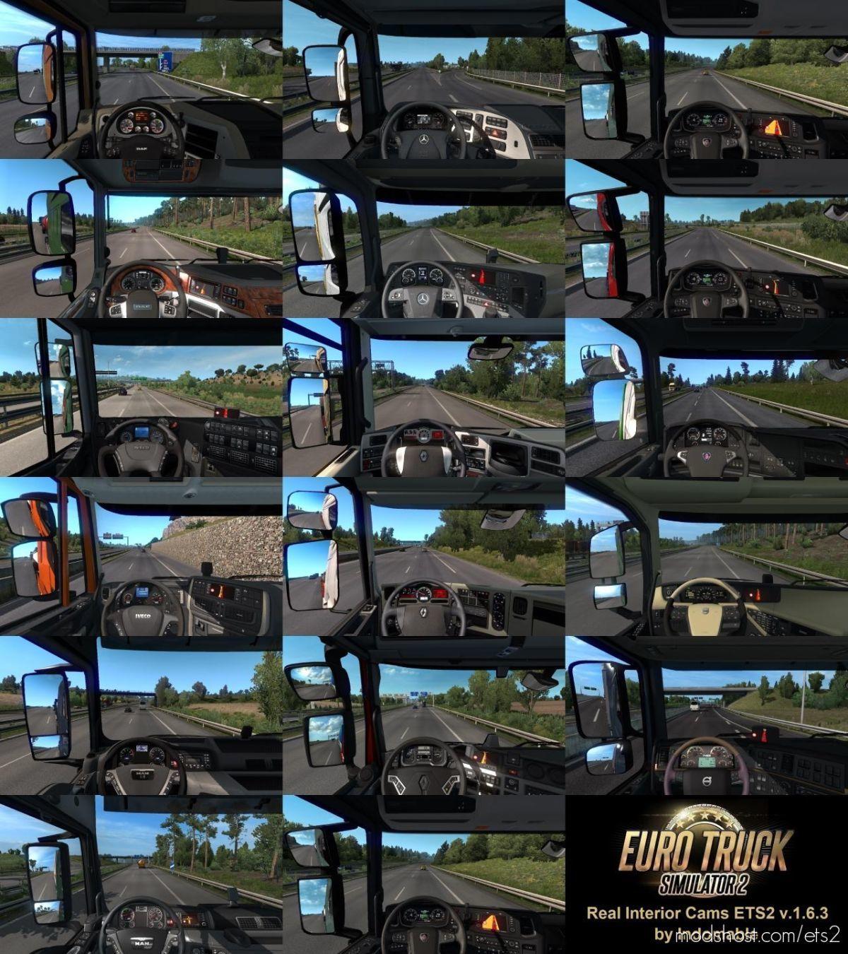 Real Interior Cams V1.6.3 for Euro Truck Simulator 2