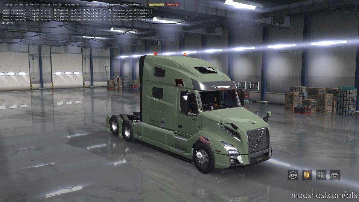 Volvo VNL 2019 Truck V2.26 Fixed [1.39] for American Truck Simulator