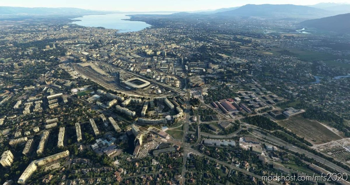 Geneva City, Switzerland for Microsoft Flight Simulator 2020