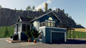 Farm House BIG Blue US for Farming Simulator 19