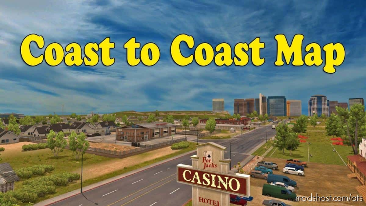 Coast To Coast Map V2.11.9 [1.39] for American Truck Simulator