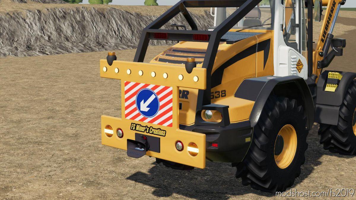 Rear Warning Sign For Wheel Loaders for Farming Simulator 19