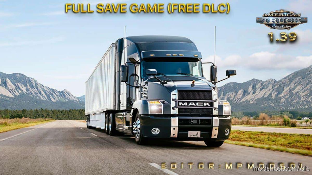 Full Save Game [1.39] (Free DLC) for American Truck Simulator