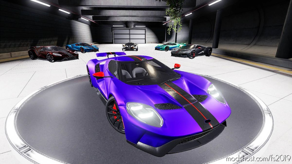 Ford GT 2017 V1.1 for Farming Simulator 19