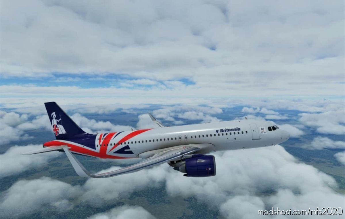 Airbus A320Neo Britannia Airways (60TH Anniversary Concept) for Microsoft Flight Simulator 2020