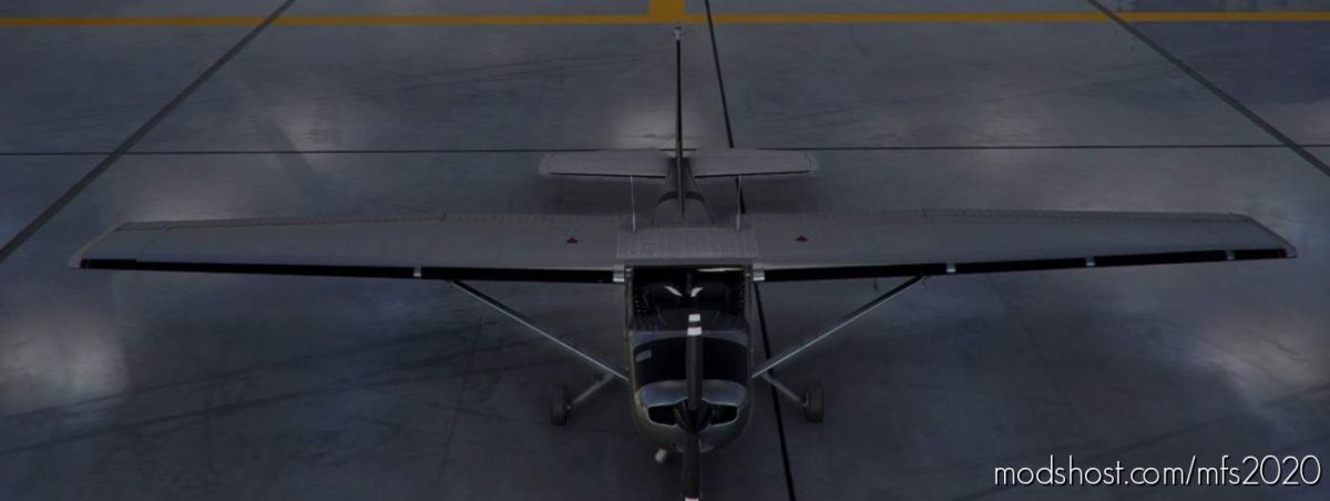 C152 Worn Metal Bare For FS2020 1.10.8.0 V1.1 for Microsoft Flight Simulator 2020