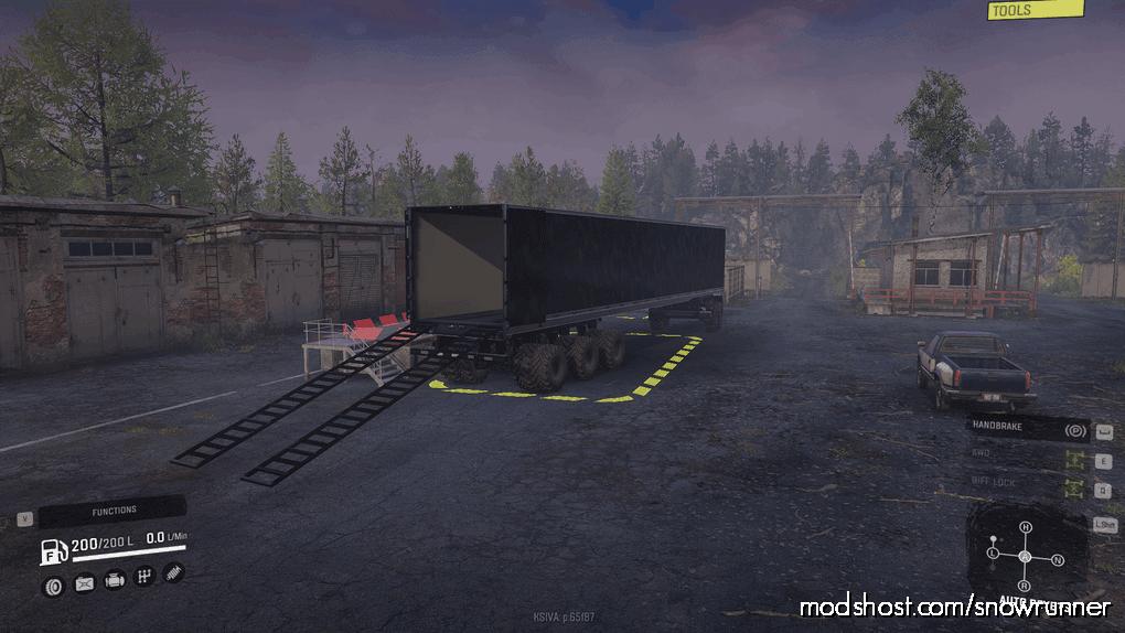 """IX 8-Slot """"Road Train Ready"""" Trailer for SnowRunner"""