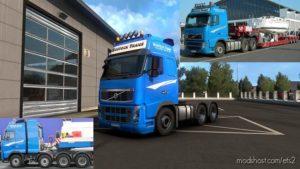 Rostock Trans Skin For Volvo FH Classic [1.39] for Euro Truck Simulator 2