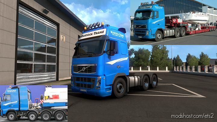 Rostock Trans Skin For Volvo FH Classic [1.39] for Euro Truck Simulator 2